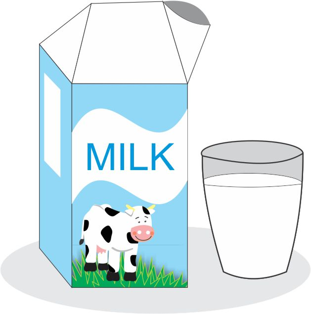 Cartoon carton of milk