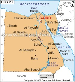 Map Flashcards By ProProfs - Map of egypt landforms