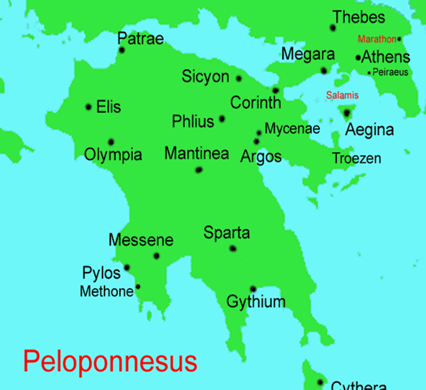 Map Of Greece Flashcards By Proprofs