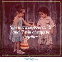 Like in the keyboard, \'U\' and \'I\' will always be together.