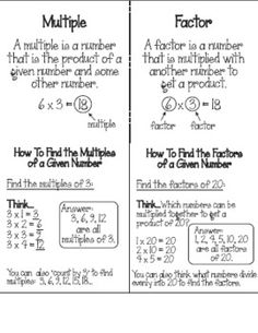 math worksheet : factors and multiples for grade 3  1000 images about math factors  : Multiples Worksheet Grade 5