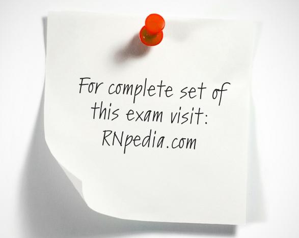 NCLEX practice test for respiratory system 1 (exam mode) by rnpedia.com