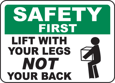 CES Safety Talks About Proper Lifting Techniques