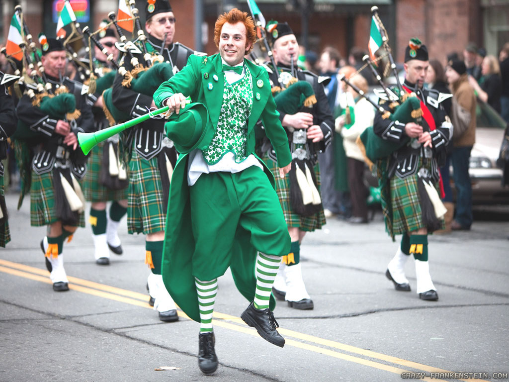 adult young St festival patricks