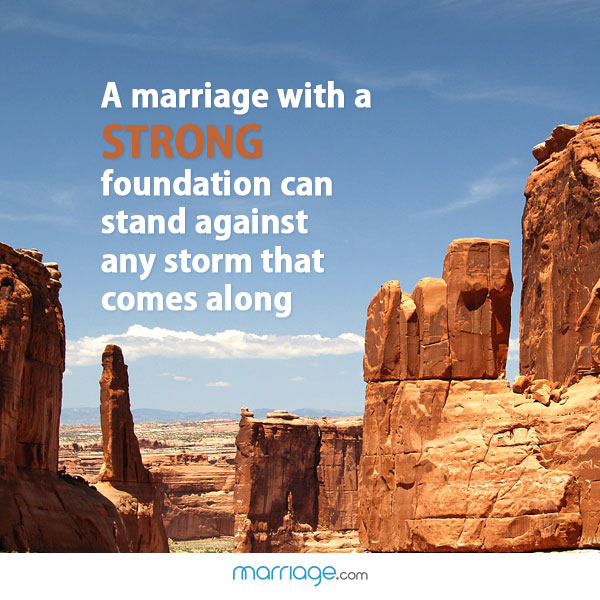 A marriage with a strong foundation can stand against any storm that comes along!