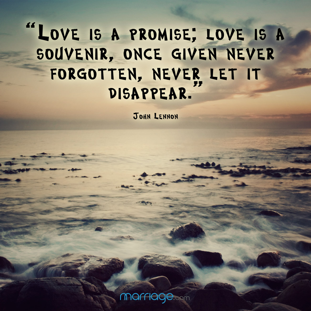 "Relationship Promise Quotes: ""Love Is A Promise; Love Is A Souvenir,..."