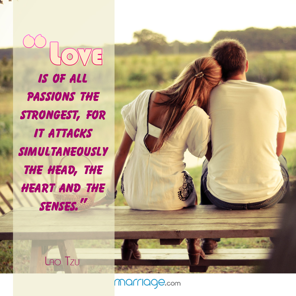 I Love You Quotes - Love is of all passions the strongest, for it