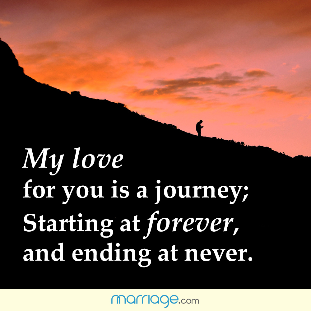 Positive Quotes - My love for you is a journey; starting ...