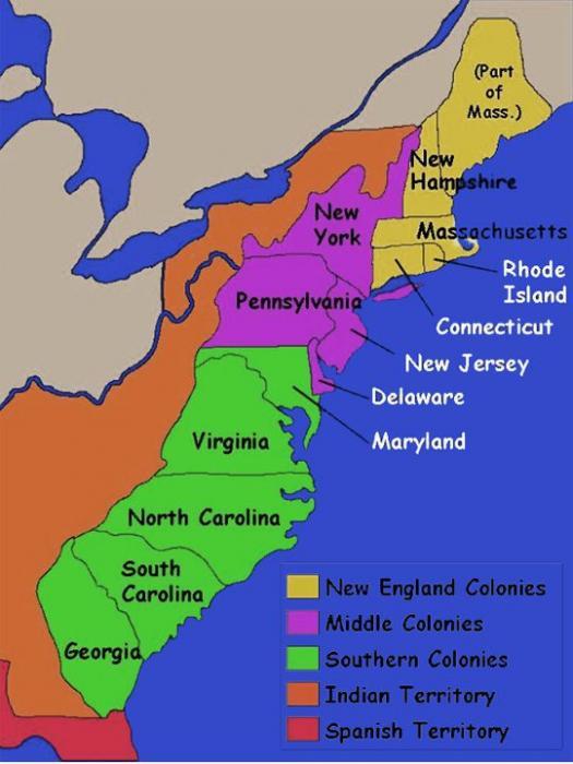 Quiz: The 13 Colonies Of America - ProProfs Quiz