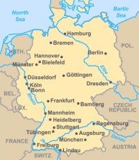Rhine River Germany Map France Map - Germany map of rivers