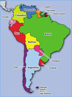 South America Map In Spanish Uptowncritters - South america map in spanish